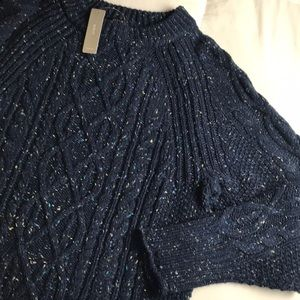 nwt // j.crew donegal cable knit crewneck sweater